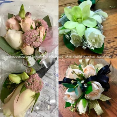 custom-made wrist corsages